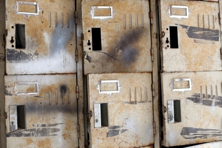 The old rusty lockers photo