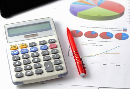 lose balance: Finance statement with calculator