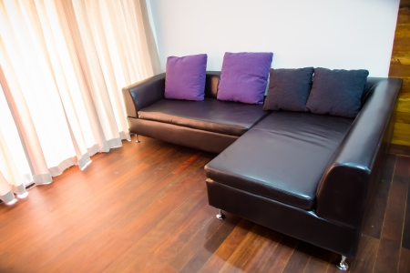 ruby house: house - couch on hallway at a modern house Stock Photo