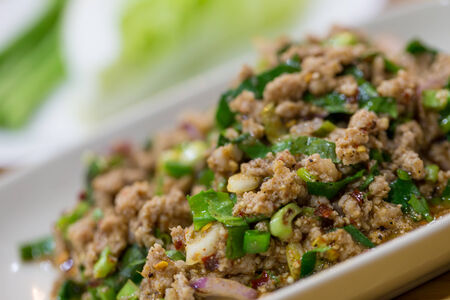 Minced pork restaurant in Thailand photo