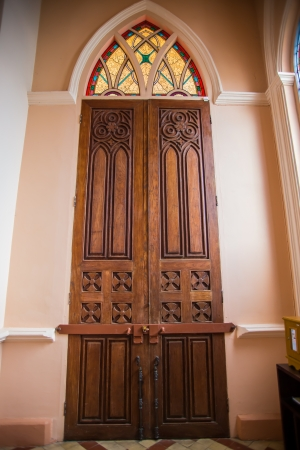 pardon: The interior of the church door