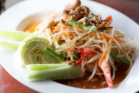 green papaya salad: green papaya salad thai food