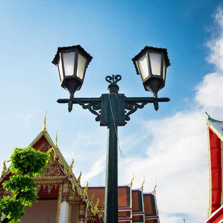 Modern lamp design Post Street Road. Stock Photo