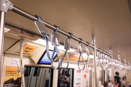 handrails: Handrails on the train