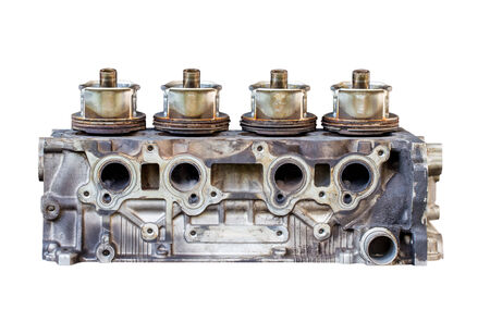cylinder block: image of cylinder block of engine Stock Photo
