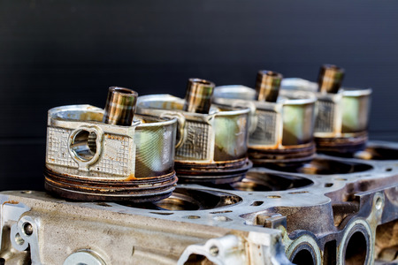 asterix: image of cylinder block of engine Stock Photo