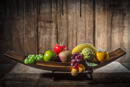 Classical still life with fruit photo