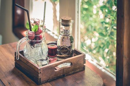 fragola soda italiani decorare con fragole e menta