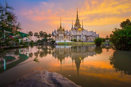 Amazing temple places in twilight time, Thailand