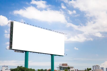 tabellone per le affissioni vuoto per poster pubblicitari all'aperto o tabellone per le affissioni vuoto al momento del moning per la pubblicità Archivio Fotografico