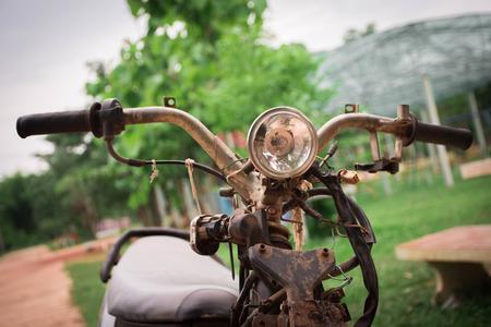 Old motorcycles break but still drive.