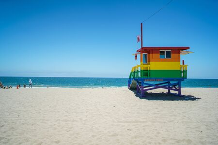 Venice Beach Pride Lifeguard Tower in Los Angeles