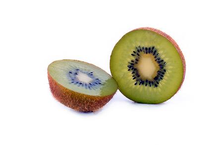 over white background: kiwi fruit over white background