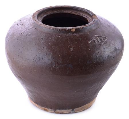 workmanship: Garlic ancient jars on white