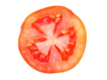 tomato slice: Slice of tomato isolated on white Stock Photo