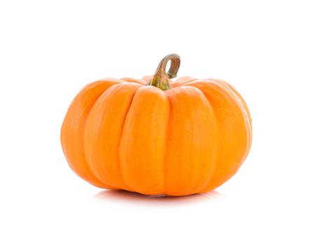 Studio shot of a nice ornamental pumpkin on pure white background