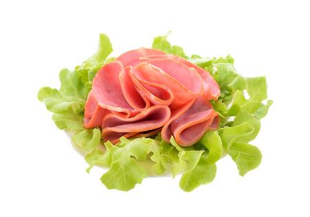 Ham isolated on white background