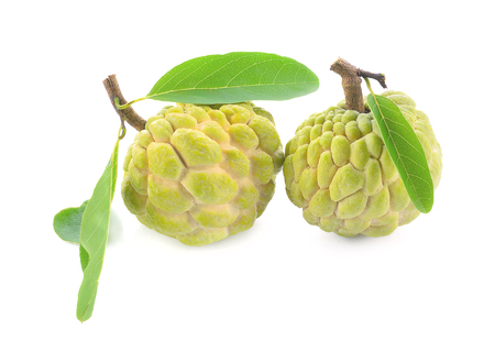 custard apple isolated on white background Stock Photo