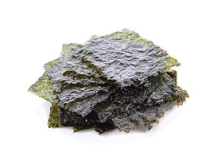 Algae plate on white background