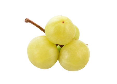 Indian gooseberry isolated on white background Фото со стока