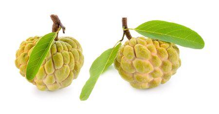 custard apple isolated on white background Фото со стока