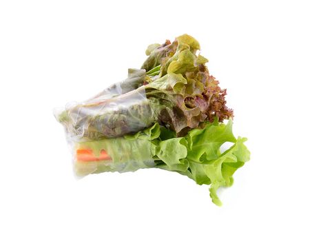 Salad roll on a white background 写真素材