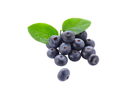 Blueberry on a white background.