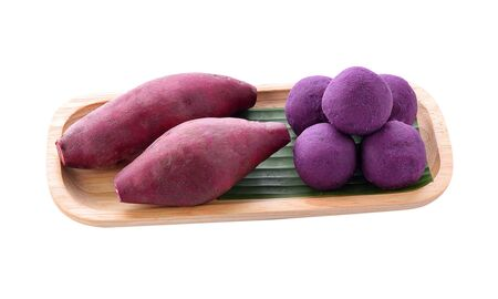 sweet potatoes isolated on white background Фото со стока