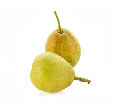 fragrant pear on white background Stock Photo
