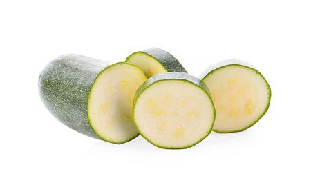 Zucchini fresh on white background