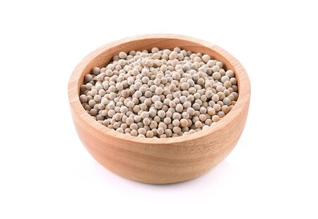 White pepper on a white background