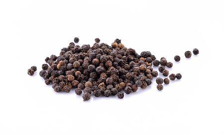 Black pepper isolated on white background. 版權商用圖片