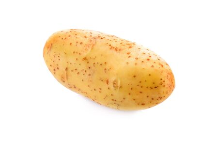 Potatoes on a white background.