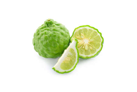Bergamot fruit on a white background