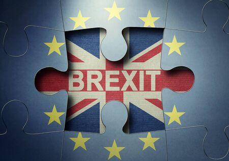 Vota per il concetto di uscita dal Regno Unito Archivio Fotografico