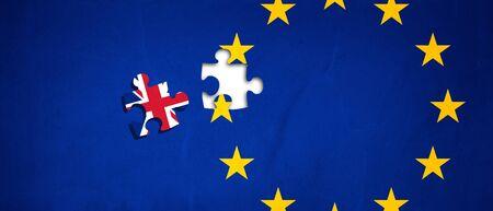 Vote for United Kingdom exit concept Stock Photo