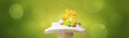 Easter composition with eggs. Festive decoration. Happy Easter!