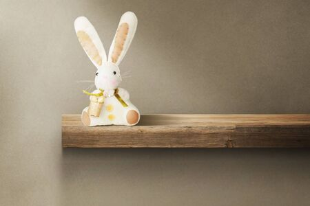 Easter composition with rabbit. Festive decoration. Happy Easter!