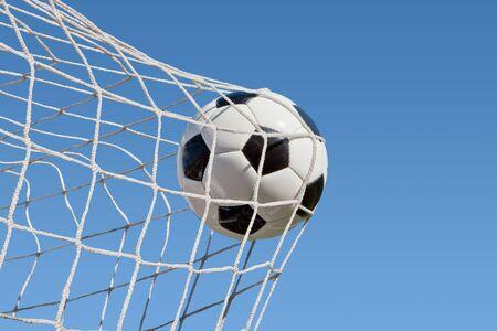 Tradizionale gioco di calcio con un pallone di cuoio Archivio Fotografico