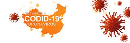 Stop coronavirus and quarantine concept. 3D medical illustration