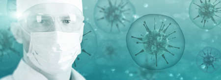Corona virus outbreaking. Epidemic virus respiratory syndrome.