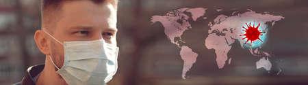 Stop coronavirus and quarantine concept. Respiratory protection