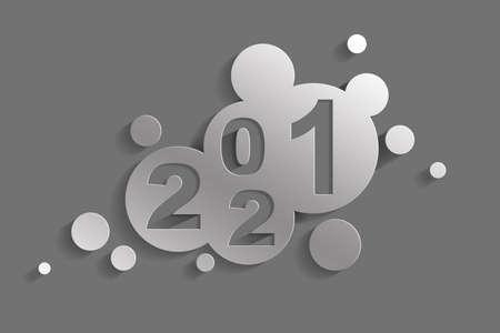 Creative design concept for the new year festival. 3D illustration Banco de Imagens - 159972110