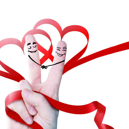 Concept of human emotions, love, relations and romantic holidays. 3d illustration.