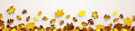 Beautiful autumn background with yellow and red leaves. Фото со стока