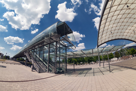 messe: West entrance on territory of the exhibition center in Hannover