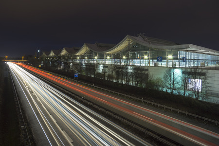 messe: Hannover fairground, the largest exhibition ground in the world. Stock Photo