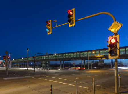 light speed: Intersection with the traffic light in Hannover