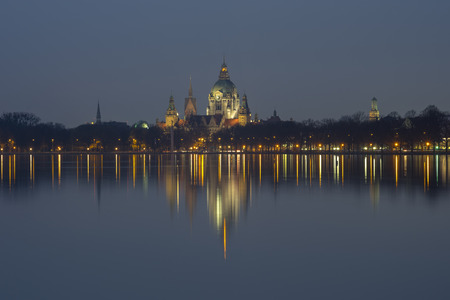 Maschsee in Hannover atevening