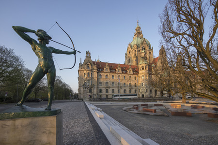 New Town Hall in Hanover Standard-Bild